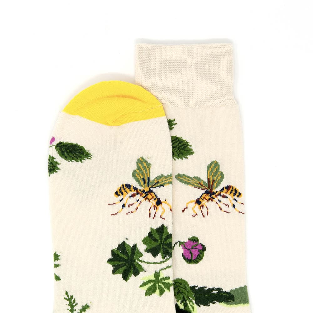 Spring Garden Beige Dress Socks