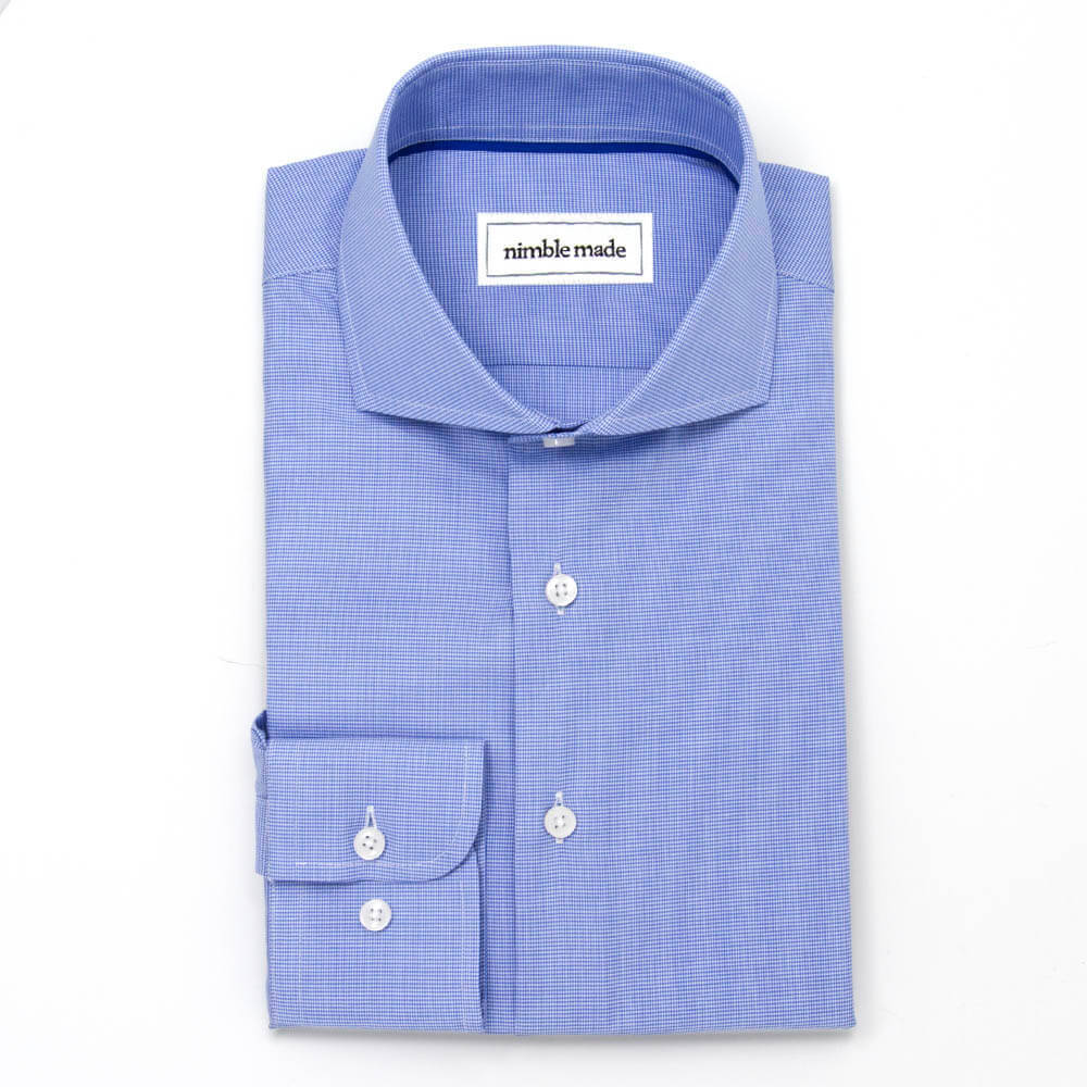 Blue Cutaway Dress Shirt | The Porcelain