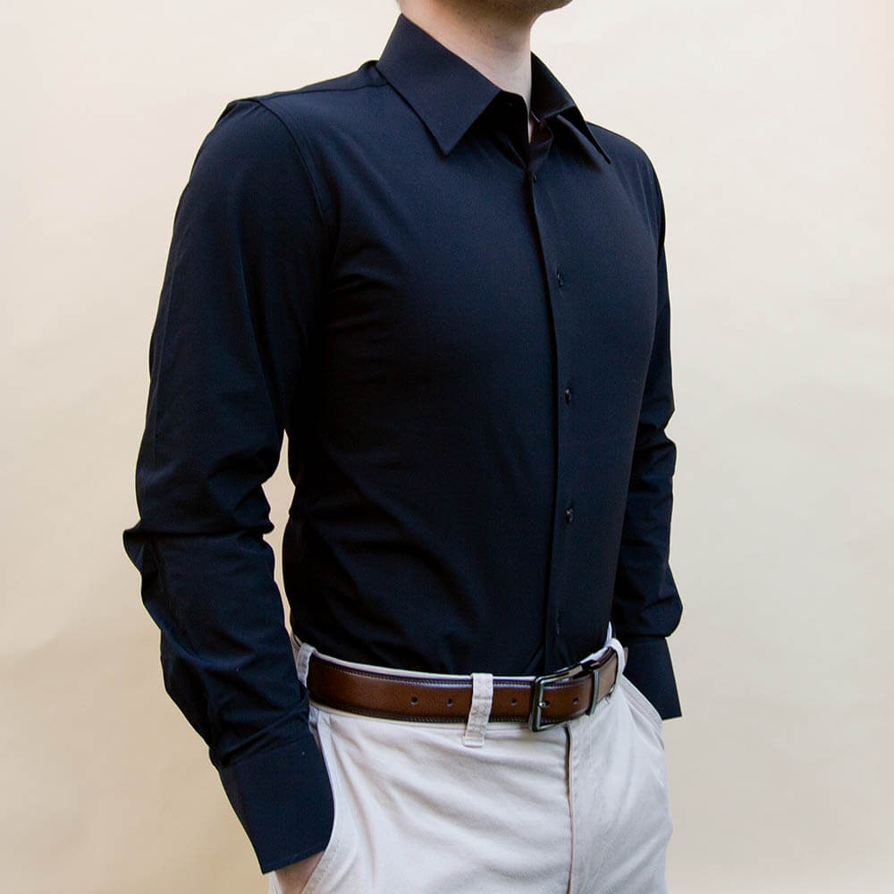 Black Non-Iron Dress Shirt | The Yin