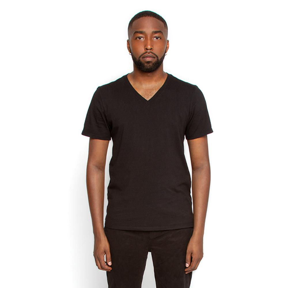 Men's Black T Shirt V Neck | Nimble Basics