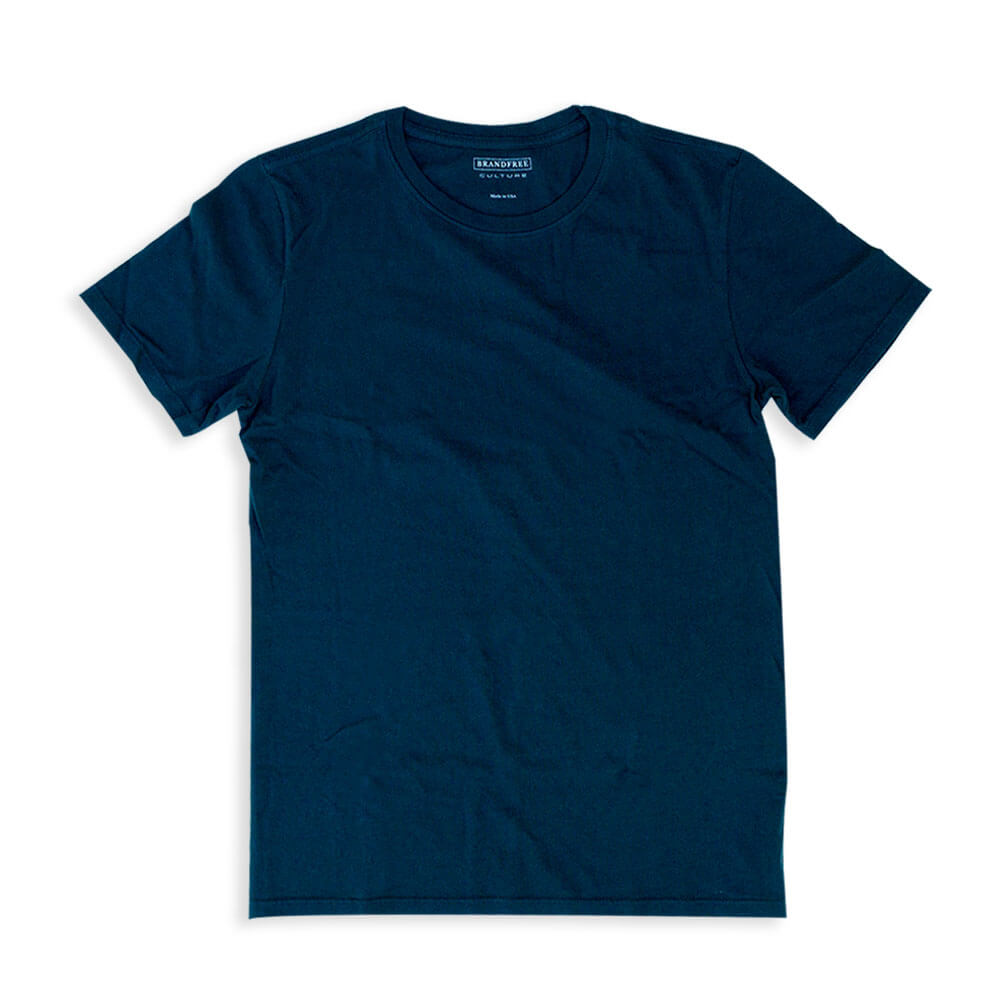 Men's Blue T Shirt Crew Neck | Nimble Basics