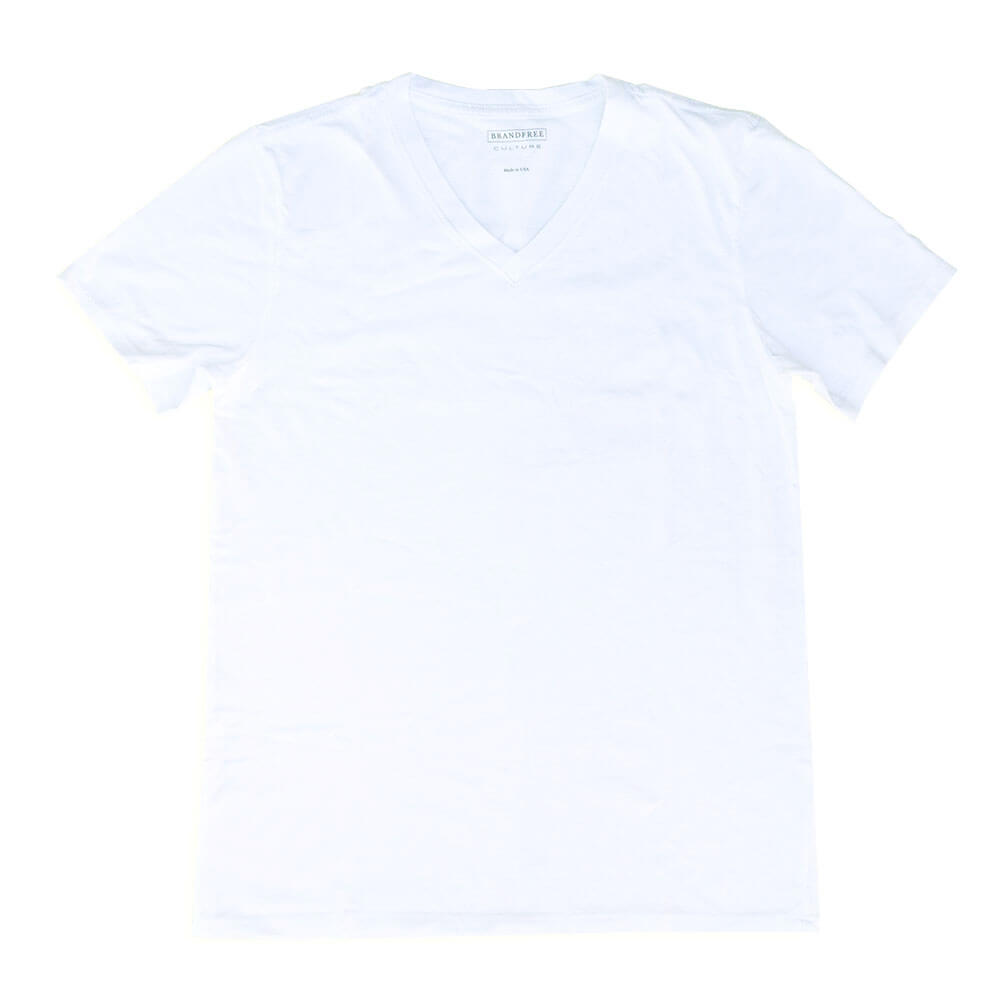 Men's White T Shirt V Neck | Nimble Basics