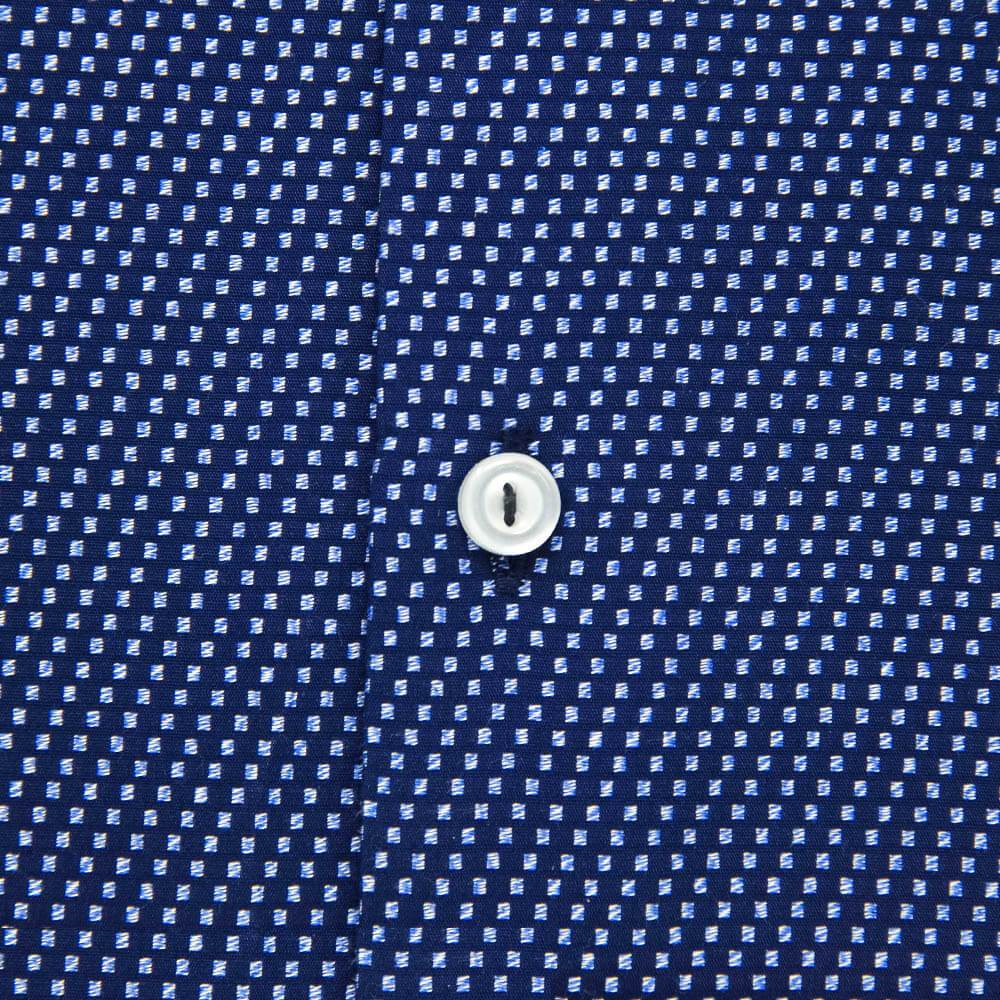 navy-casual-shirt-checkered-button-closeup
