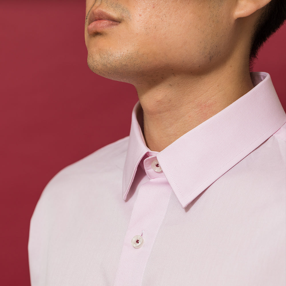 Men's Pink Dress Shirt - Slim Fit | The New Year
