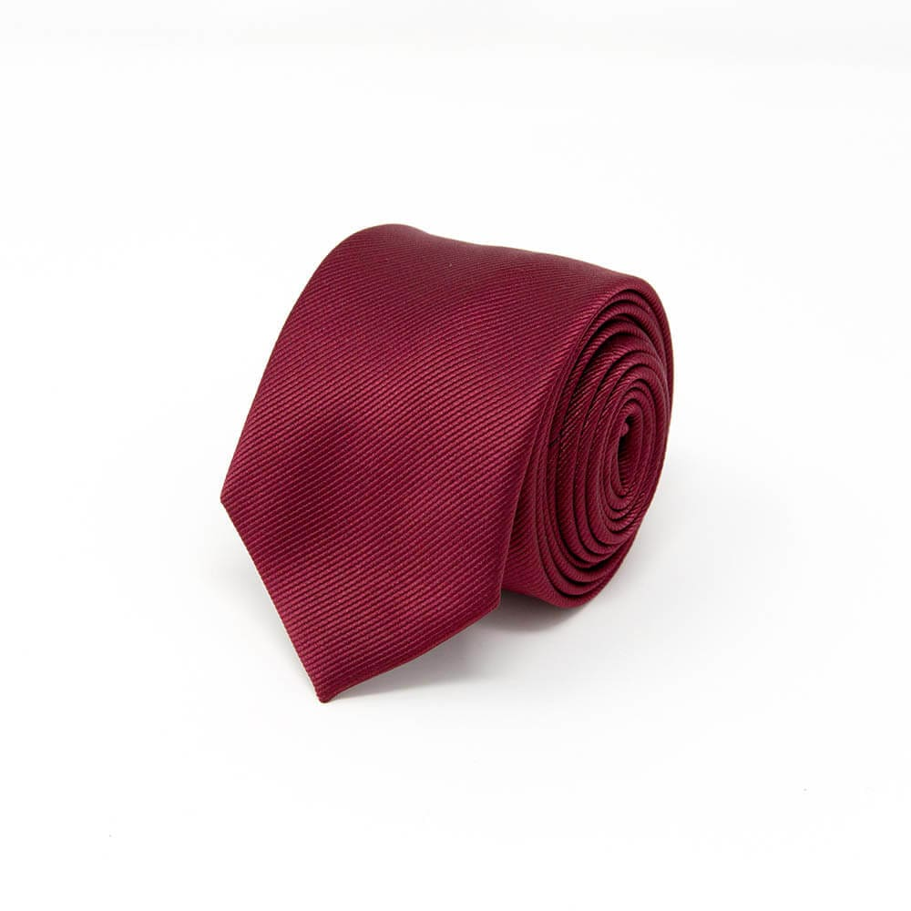 Classic Solid Burgundy Tie