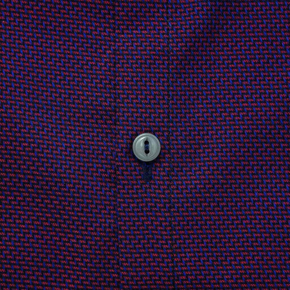 purple-patterned-weave-button-closeup