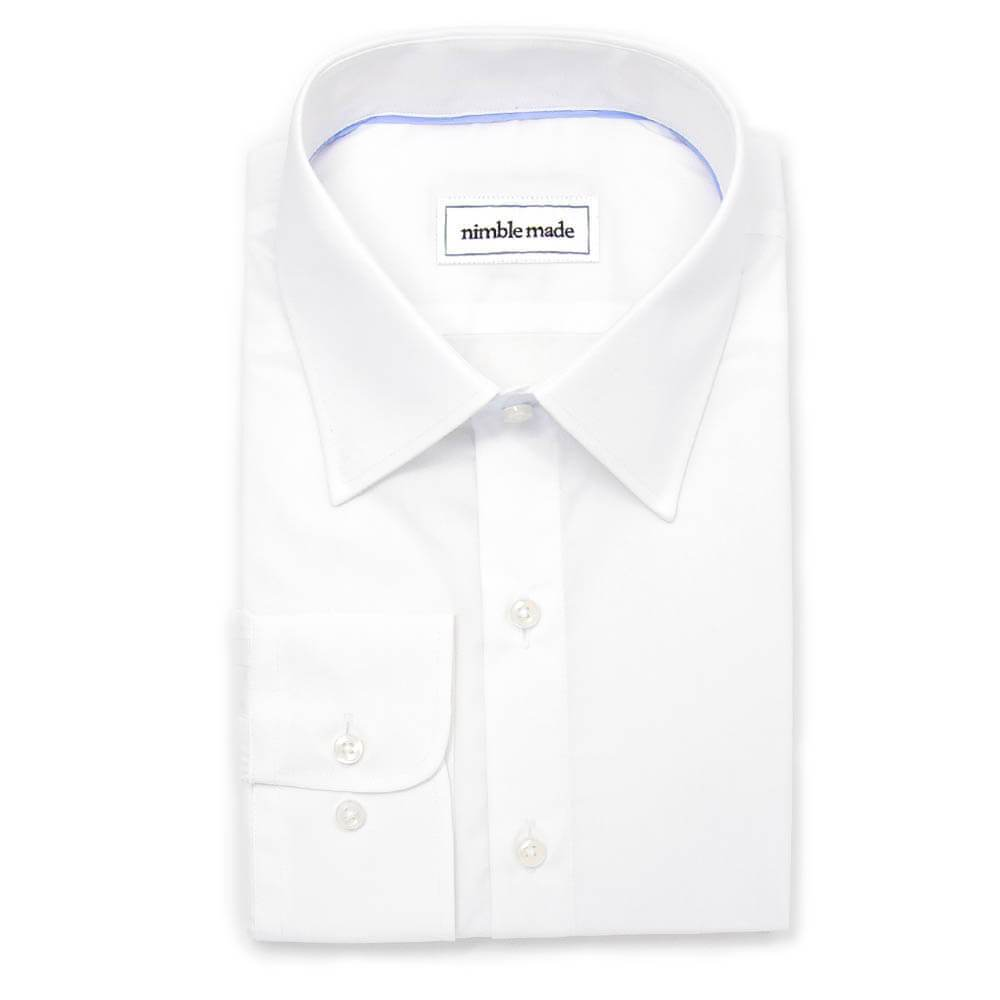 Men's White Dress Shirt - Slim Fit | The Crescent