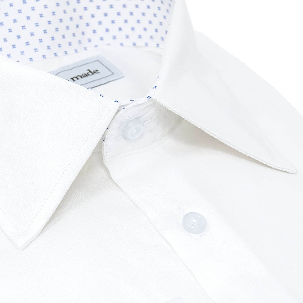 White Collar Speckled Dress Shirt | The Blue Skies