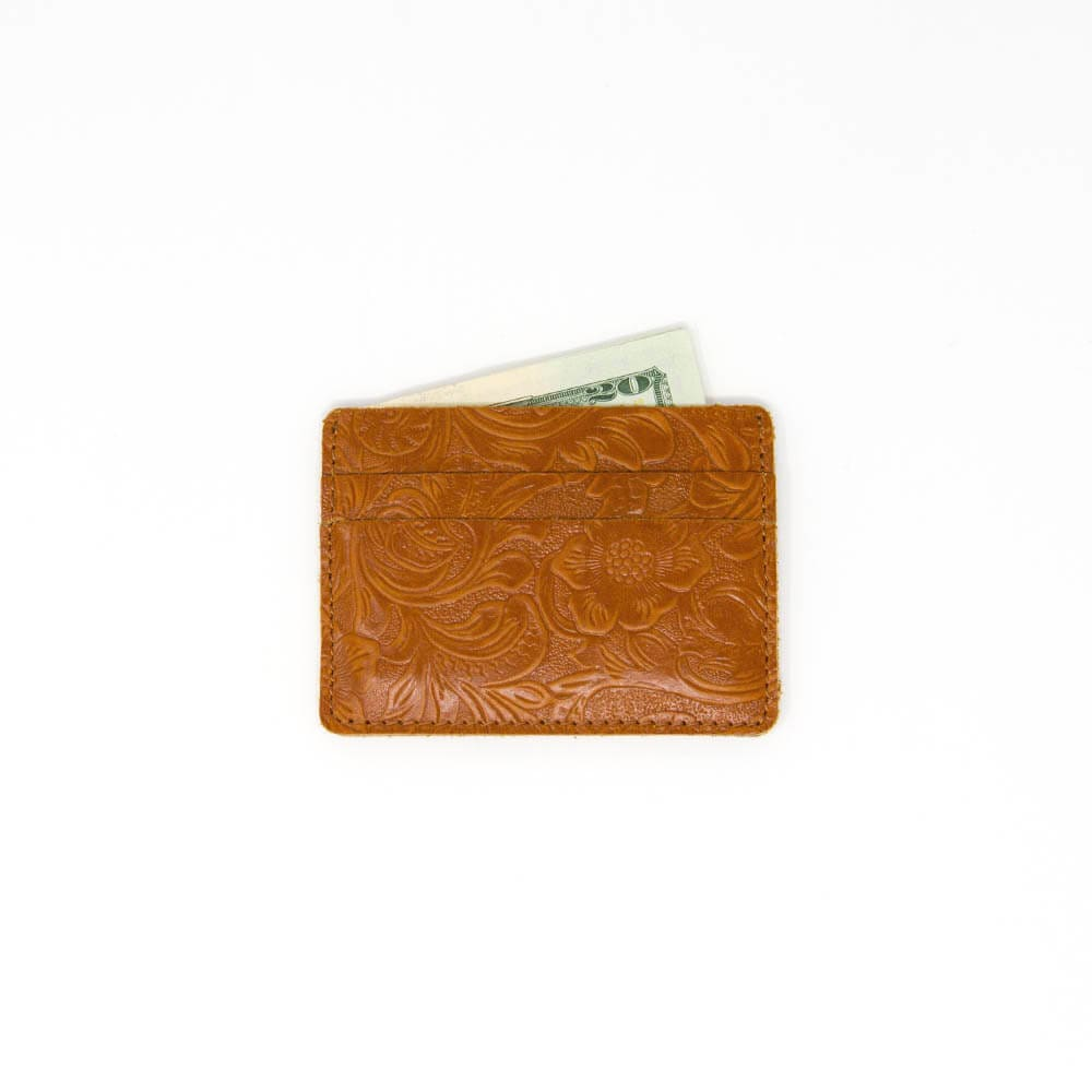 Tan Men's Slim Leather Wallet