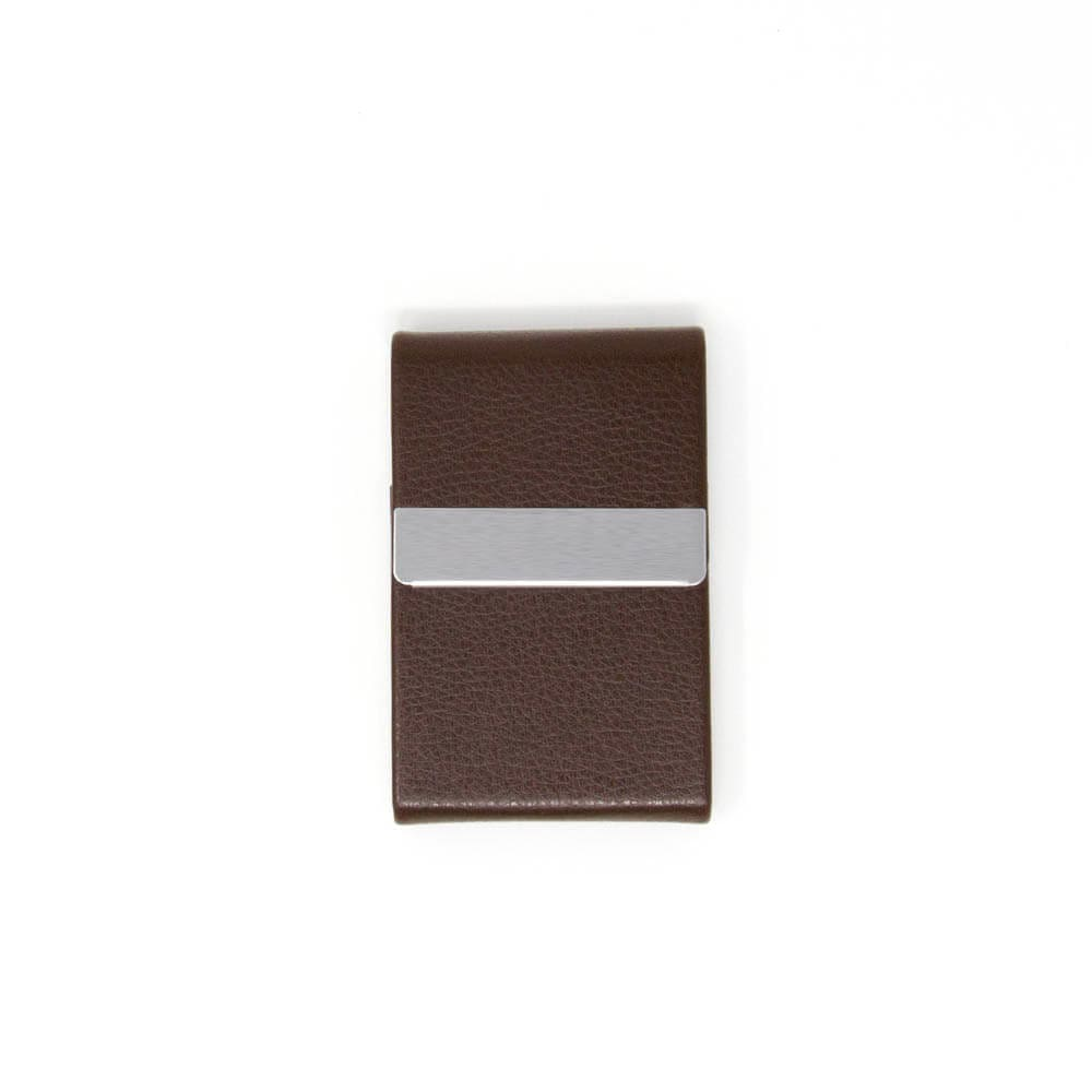 Brown Leather Vertical Card Holder Wallet