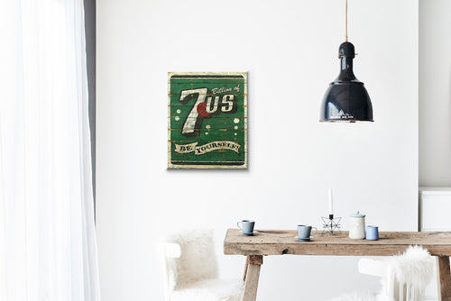 7-Us Wood Sign Print