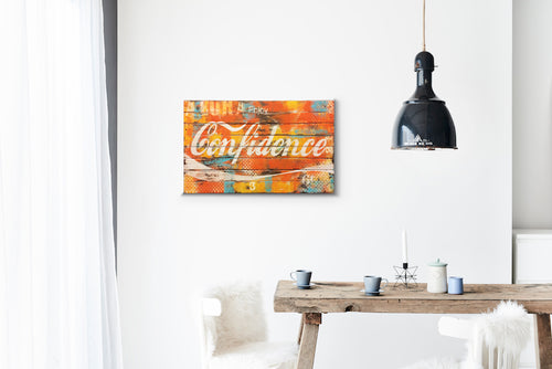 Confidence Wood Sign Print