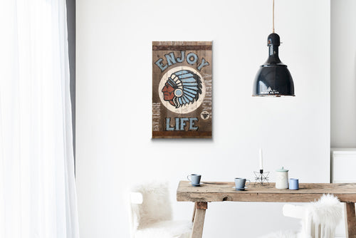 Enjoy Life Greywood Wood Sign Print
