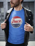 PEACE TEE COLUMBIA BLUE