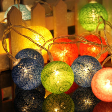 Load image into Gallery viewer, 10 Globes Cotton Ball String LED Lights