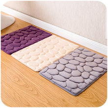 Load image into Gallery viewer, Memory Foam Bathroom Mat- Cobblestone