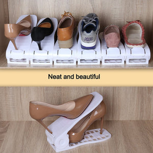 Space saving shoe slots organizer -2 PCS