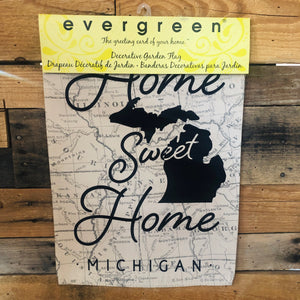 Home Sweet Home Michigan Garden Flag