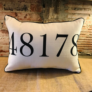48178 South Lyon Michigan Zip Code Pillow