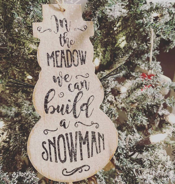 In the Meadow Snowman Ornament