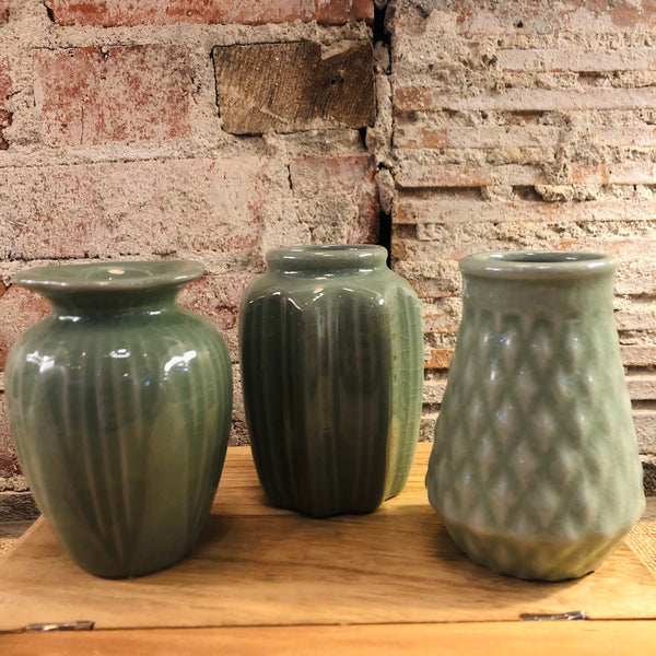Mini Green Bud Vases