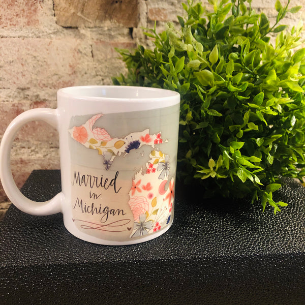 Married in Michigan Ceramic Mug