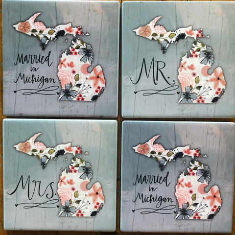 Michigan Wedding Coasters