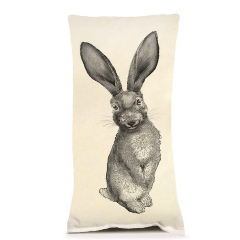 Black & White Bunny Pillow