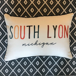 South Lyon Michigan Pillow