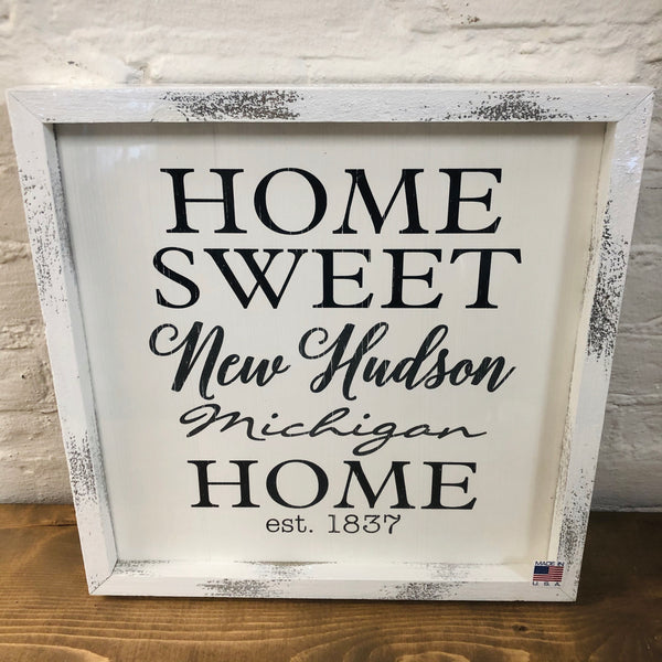 Home Sweet New Hudson Plaque