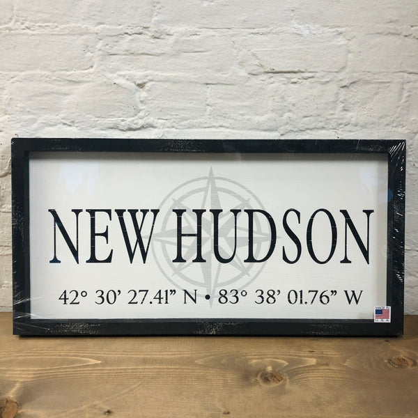 New Hudson Coordinate Plaque
