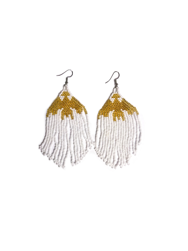 Wakaya Island Earrings: White Gold - Chen Burkett New York