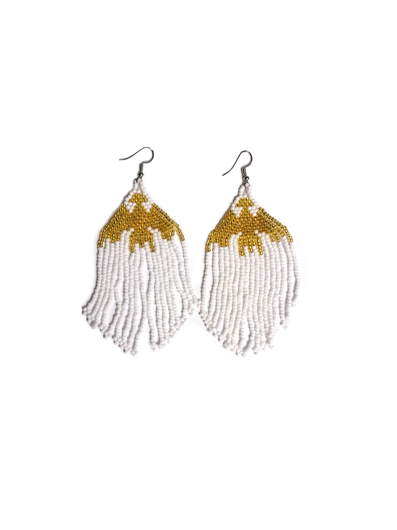 Wakaya Island Earrings: White Gold