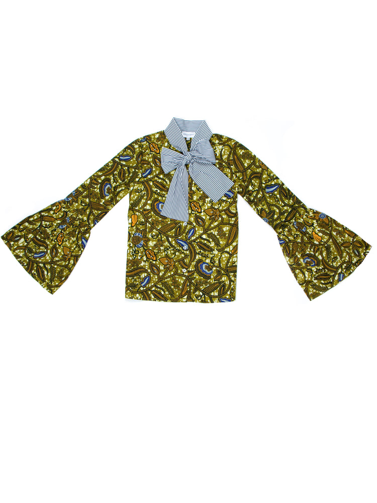 African Print Victoria Blouse - Chen Burkett New York