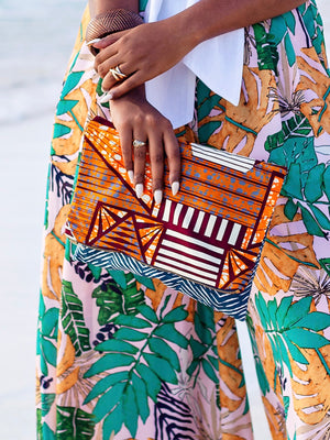 Load image into Gallery viewer, Malawi Clutch Bag - Chen Burkett New York