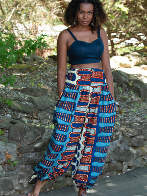 Load image into Gallery viewer, Kumasi African Print Joggers