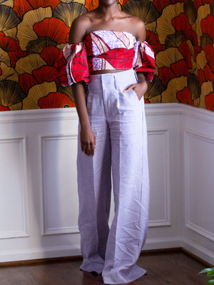 Load image into Gallery viewer, Thompson Stripe Linen Trousers