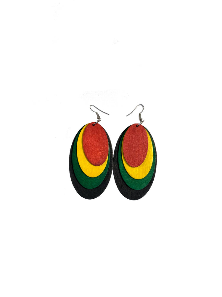 Ice Gold & Green Earrings