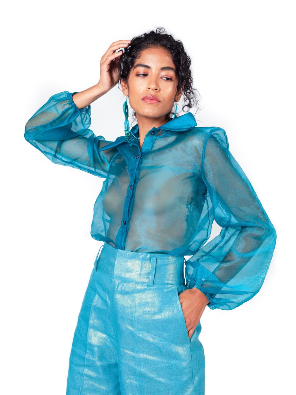 Bailey Organza Blouse - Chen Burkett New York