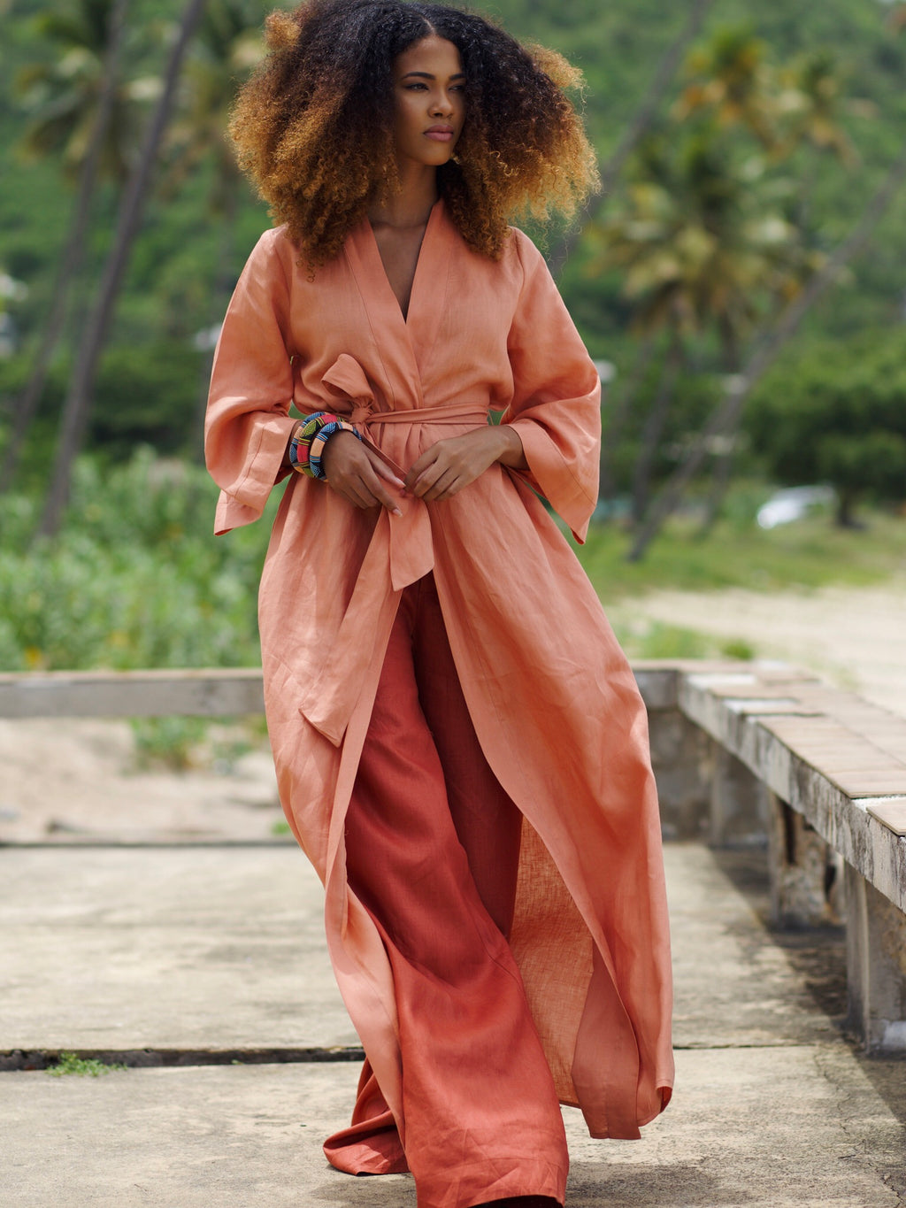 Copper Linen Duster