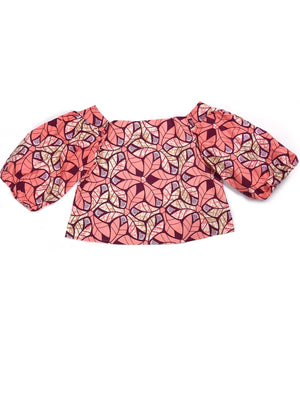 Siboney Blouse: Coral - Chen Burkett New York