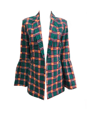African Print Five Island Blazer - Chen Burkett New York