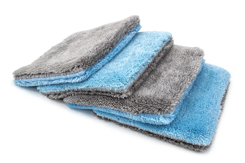 "Autofiber [Flat Out] Microfiber Wash Pad (9""x8"") Blue/Gray - 4 pack"
