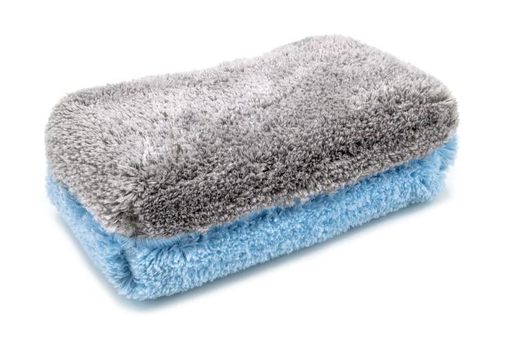 "Autofiber [Block Party] Microfiber Wash Sponge (4.5"" x 8"" x 2.5"") Blue/Gray - 1 pack"