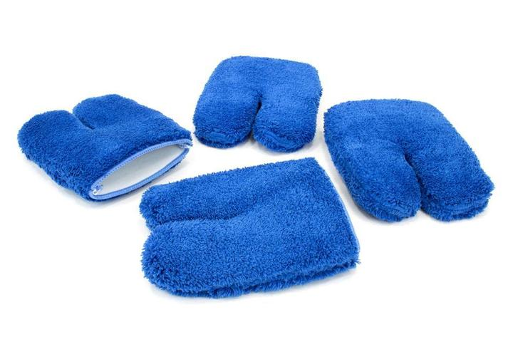 Autofiber [Wheel Fingers] Microfiber Rim and Wheel Half Mitts (4.5 in. x 4.5 in.) 4 pack