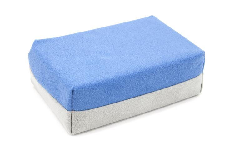 "Autofiber [Saver Applicator Smooth] Suede Applicator Mini (3""x1.5""x1.5"") with Plastic Barrier (12 pack) Sponge - Autofiber Canada"