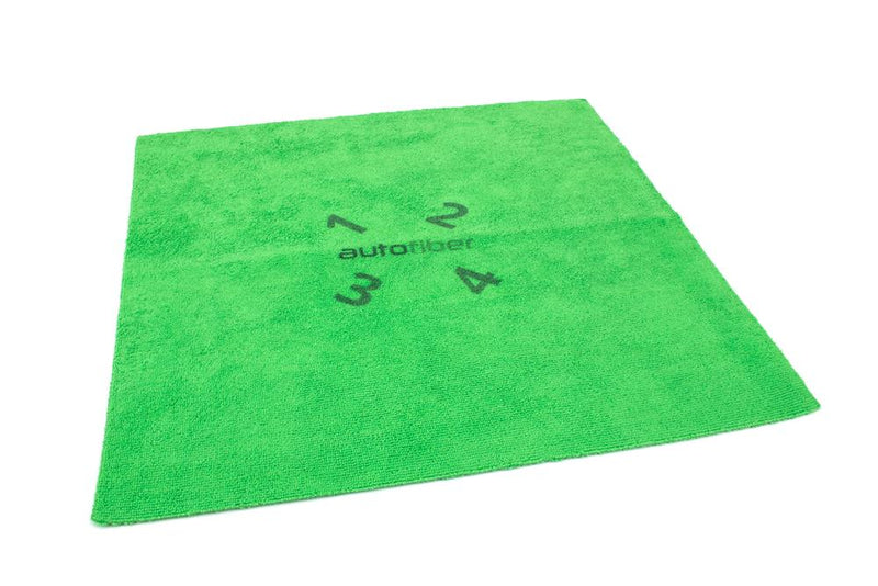 Autofiber [Quadrant Wipe] Microfiber Coating Leveling Towel (16 in. x 16 in.) 390 GSM - 10 pack