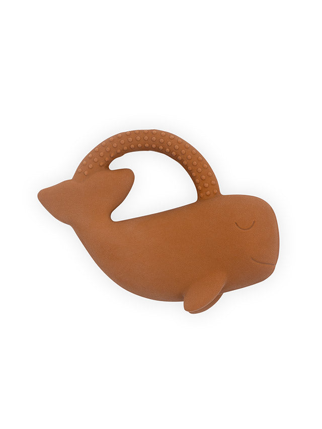 Teether Whale - Caramel