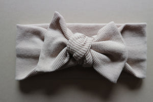 Oatmeal Ribbed Cotton Headband