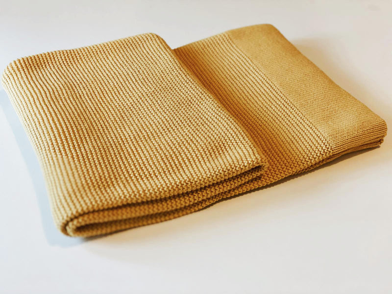 Knitted Blanket Mustard